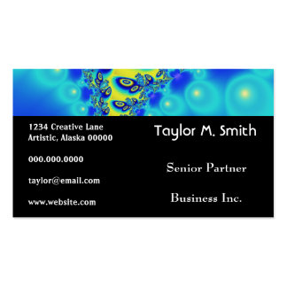 Psychedelic Orbit Wild Decorative Abstract Art Business Card