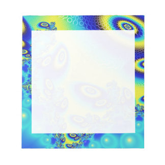 Psychedelic Orbit Wild Decorative Abstract Art Note Pad