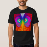 Psychedelic Owl - Black T-Shirt