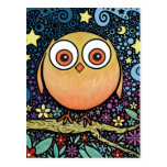 Psychedelic Owl Postcard