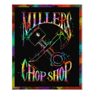 Psychedelic Paint Logo Photo Print