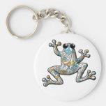 Psychedelic Paisley Frog Keychain