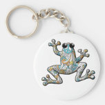 Psychedelic Paisley Frog Keychains
