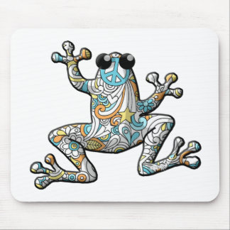 Psychedelic Paisley Frog Mouse Pad