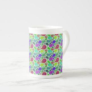Psychedelic Paisley Tea Cup