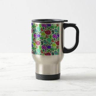 Psychedelic Paisley Travel Mug