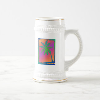 Psychedelic Palm Tree Beer Stein