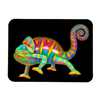 Psychedelic Panther Chameleon Magnet