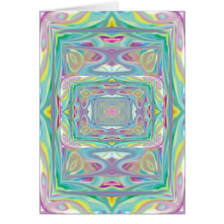 Psychedelic Pastel notecard Card