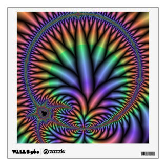 Psychedelic Pastel Rainbow Plant Wall Decal