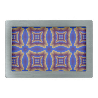 psychedelic pattern rectangular belt buckle