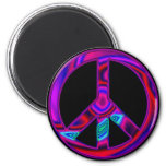 Psychedelic Peace 2 Inch Round Magnet