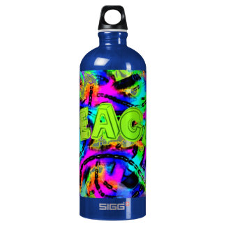 psychedelic Peace Art Collection Aluminum Water Bottle