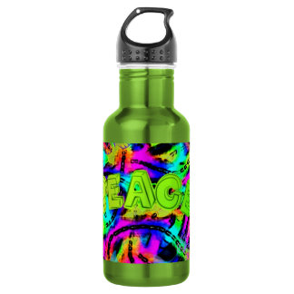 psychedelic Peace Art Collection Stainless Steel Water Bottle