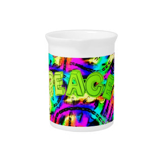 psychedelic Peace Art Gift Collection Pitcher