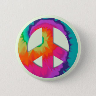 Psychedelic Peace Button