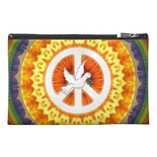 Psychedelic Peace Dove Travel Accessories Bags