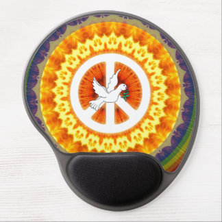 Psychedelic Peace Dove Gel Mouse Mat