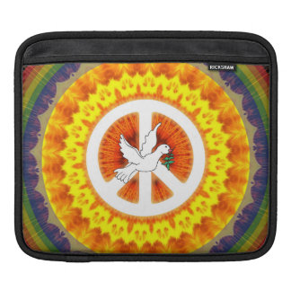 Psychedelic Peace Dove iPad Sleeve