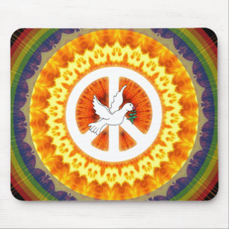Psychedelic Peace Dove Mousepad