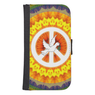 Psychedelic Peace Dove Phone Wallet Case