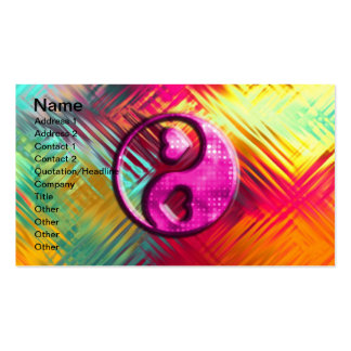 Psychedelic Peace Love Design Business Card