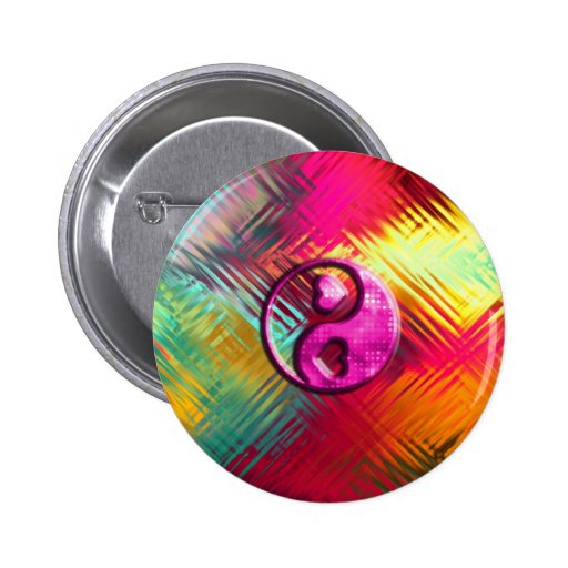 Psychedelic Peace Love Design Buttons