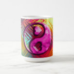 Psychedelic Peace Love Design Coffee Mugs