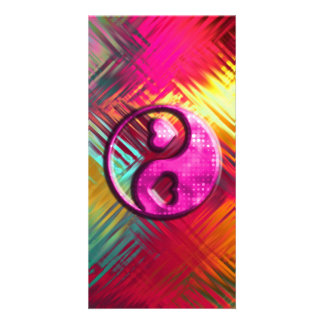 Psychedelic Peace Love Design Photo Greeting Card