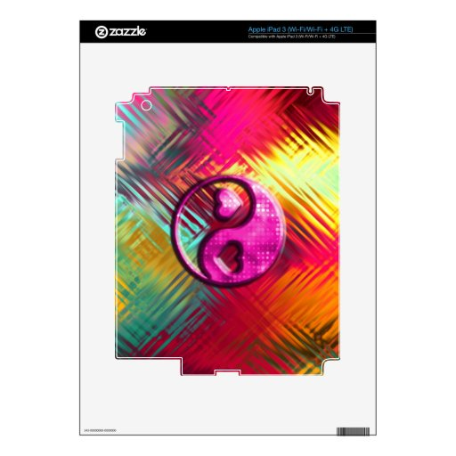 Psychedelic Peace Love Design iPad 3 Decals