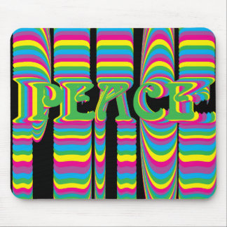 psychedelic peace mouse pad