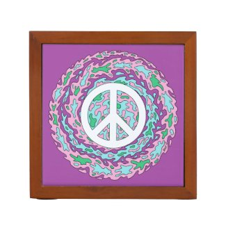 Psychedelic Peace Pencil Holder