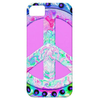Psychedelic Peace Sign Abstract iPhone 5 Covers