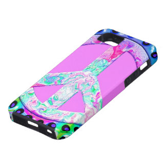 Psychedelic Peace Sign Abstract iPhone SE/5/5s Case