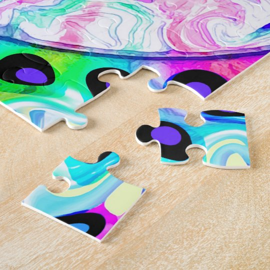 Psychedelic Peace Sign Abstract Jigsaw Puzzle