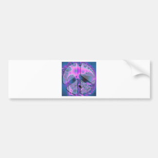 psychedelic peace sign bumper sticker