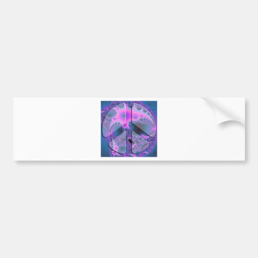 psychedelic peace sign bumper stickers