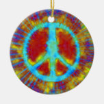 Psychedelic Peace Sign Christmas Christmas Tree Ornament