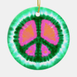 Psychedelic Peace Sign Christmas Christmas Tree Ornaments
