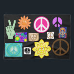 """Psychedelic Peace Sign Kitchen Towel<br><div class=""""desc"""">One can never have too many peace symbols</div>"""