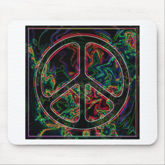 psychedelic peace sign mousepads