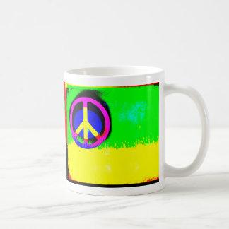 Psychedelic Peace Sign Mug