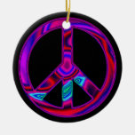 Psychedelic Peace Sign Ornament