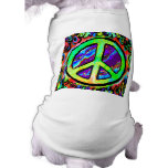 Psychedelic Peace Sign Pet Tee Shirt