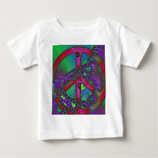psychedelic peace sign tee shirt