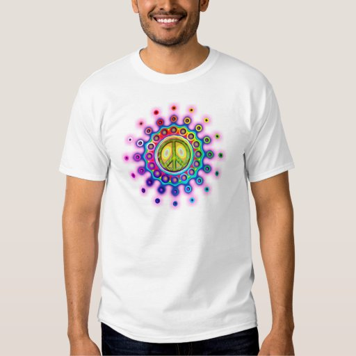 PSYCHEDELIC PEACE SIGN TEES