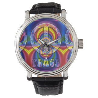 Psychedelic Peace Sign Watch