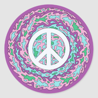 Psychedelic Peace Stickers