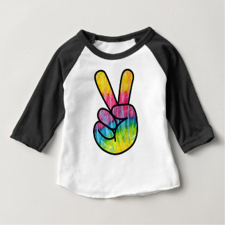 Psychedelic Peace Symbol Baby T-Shirt