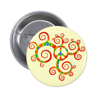 Psychedelic peace symbol pin